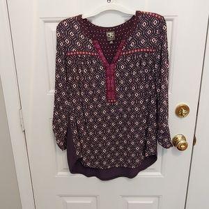 Anthropologie 3/4 length sleeve shirt women's M